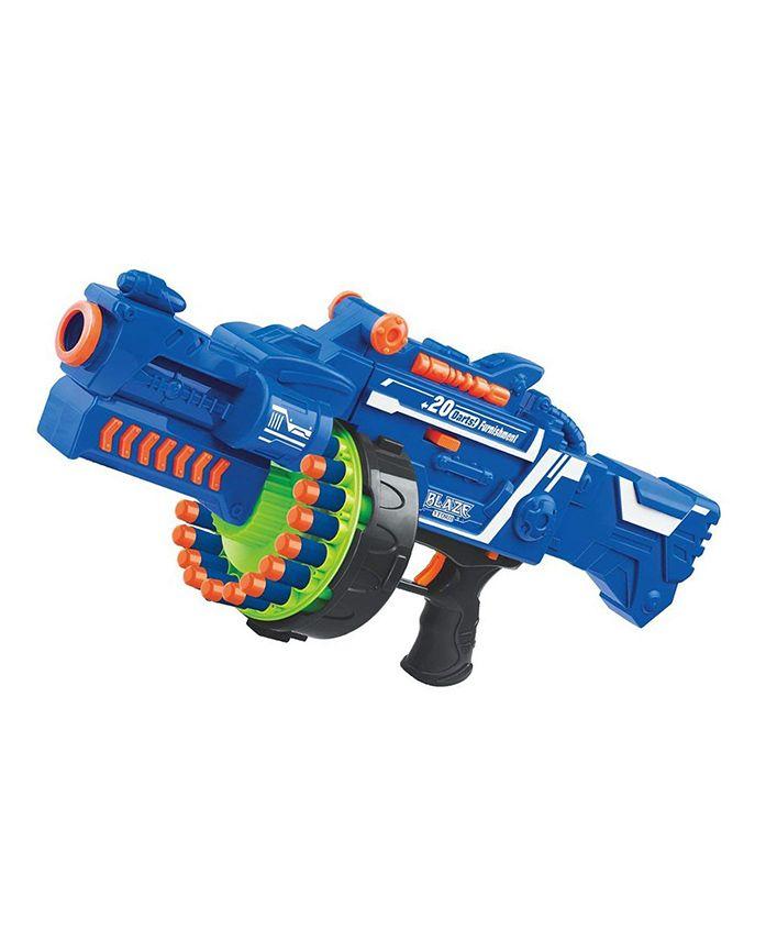 Webby Blaze Storm Soft Bullet Fully Automatic Gun - Blue