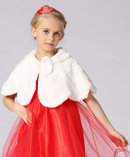 Pre Order - Awabox Cloak With Flower Bow - White