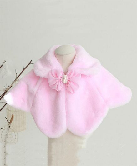 Pre Order - Awabox Cloak With Flower Bow - Pink