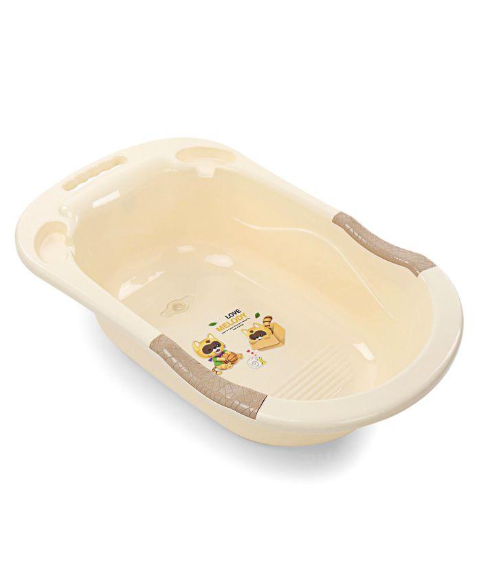 Baby Bath Tub Love Melody Print - Cream