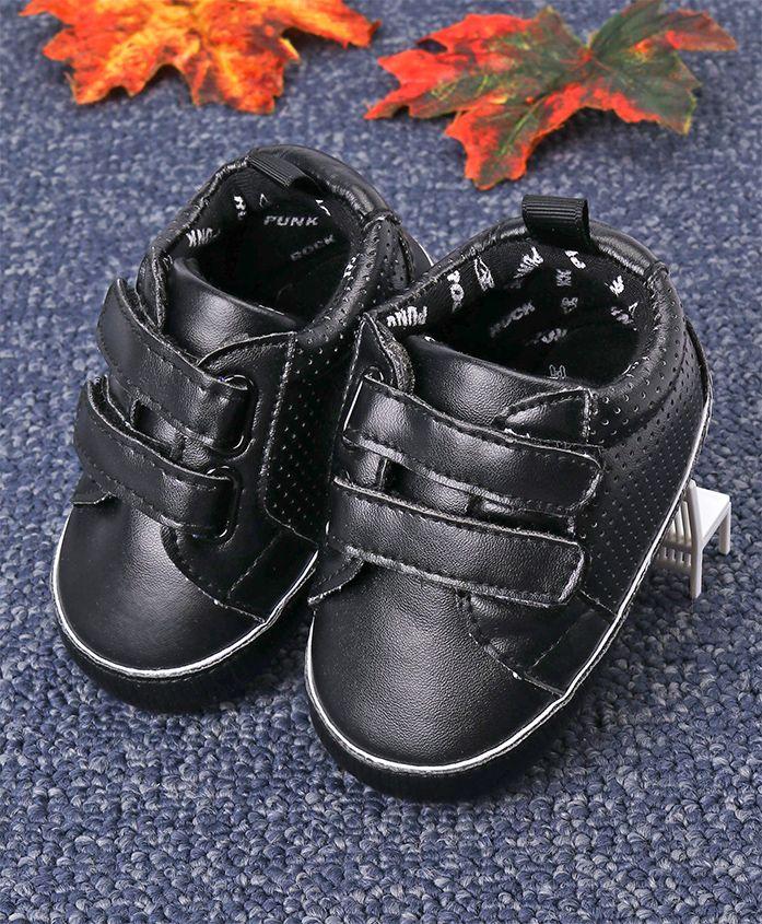 Fox Baby Casual Booties Rock N Roll Print - Black