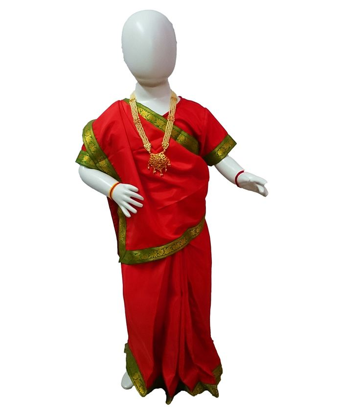 BookMyCostume Indian Queen Historical Fancy Dress Costume - Red