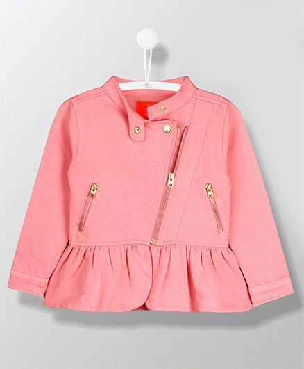 Cherry Crumble California Full Sleeves Jacket - Pink