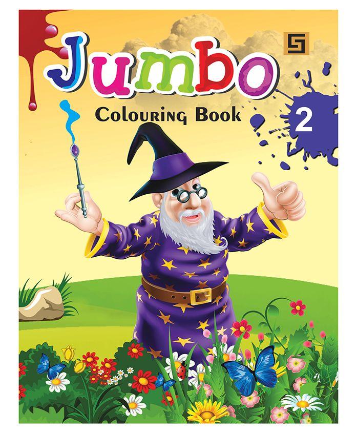 Jumbo Colouring Book Level 2 - English