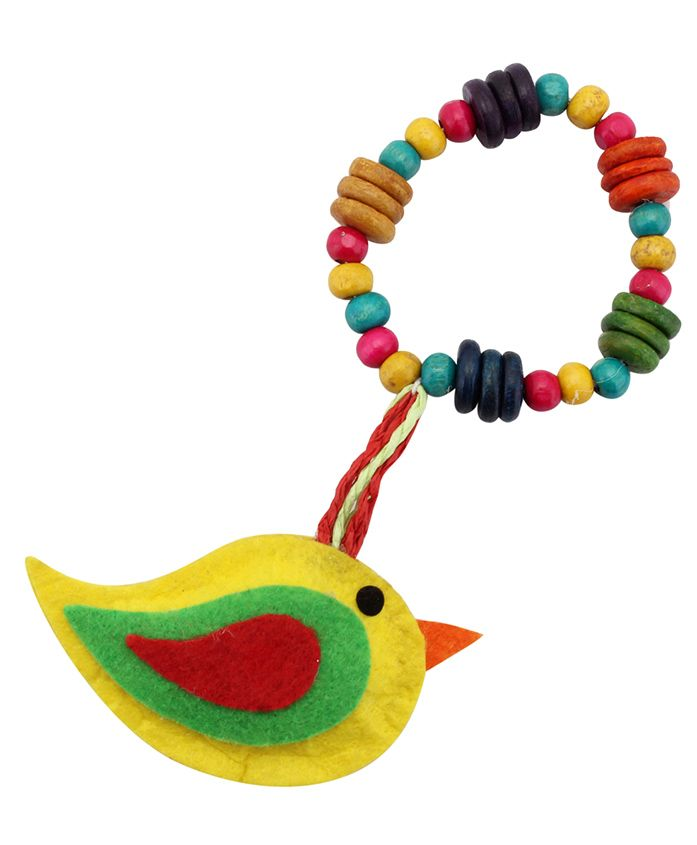 Lill Pumpkins Bird Lumba Beaded Rakhi - Yellow