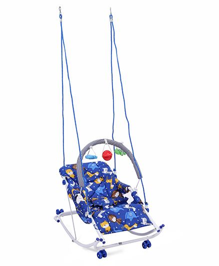 New Natraj Rocko Swing With Toys Animal Print - Blue