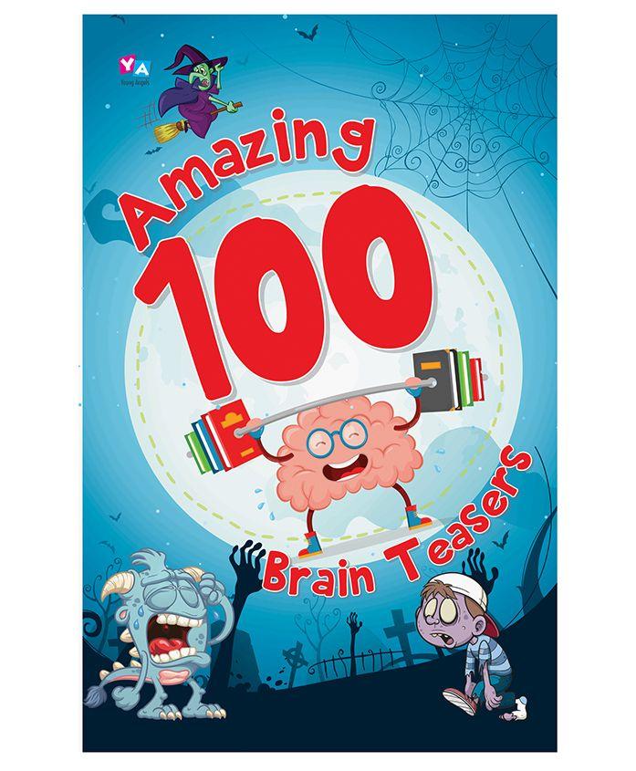 Amazing 100 Brain Teasers Jumbo Book - English