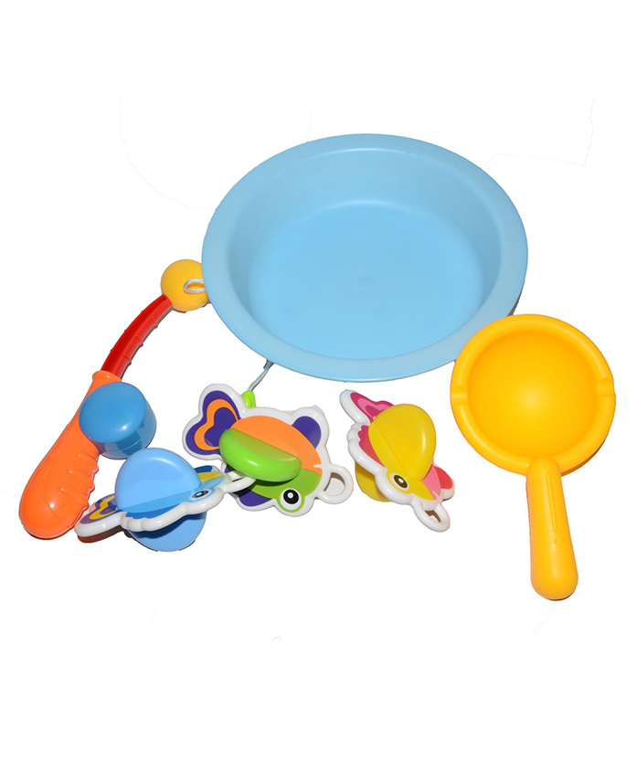 Vibgyor Vibes Fishing Bath Toys (Color May Vary)