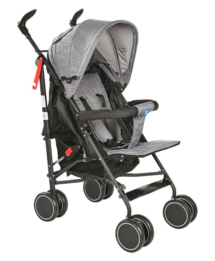 Mee Mee Lightweight Stroller With Reclining Seat - Grey