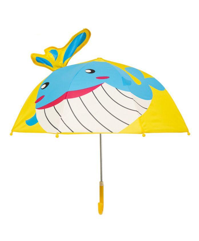 Little Maira Whale Print Umbrella - Yellow & White