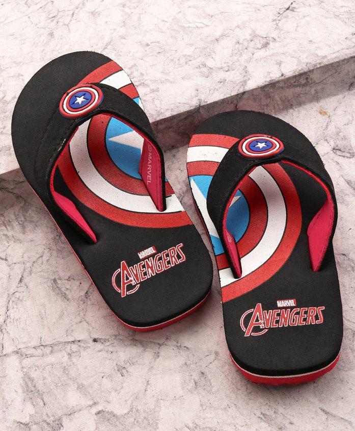 Marvel Avengers Flip Flops - Black