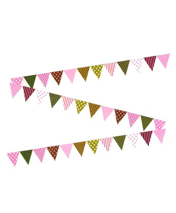 Amfin Party Banner Flag Shape Dot Print - Multicolour