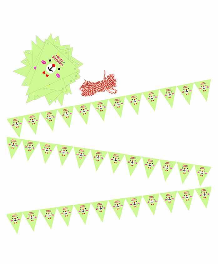 Amfin Party Banner Flag Shape Polka Dot Print - Multicolour