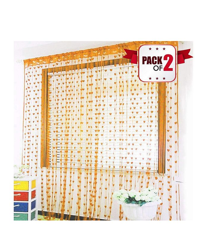 Amfin Party Windows Curtain Pack of 2 - Orange