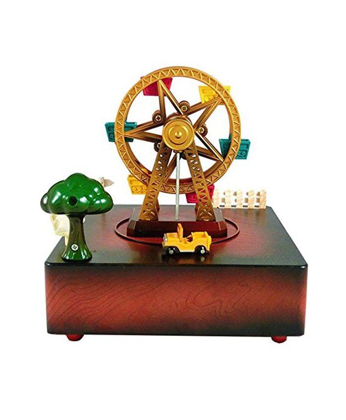 Curtis Toys Paradise Wheel Musical Wind-Up Box - Multi Colour