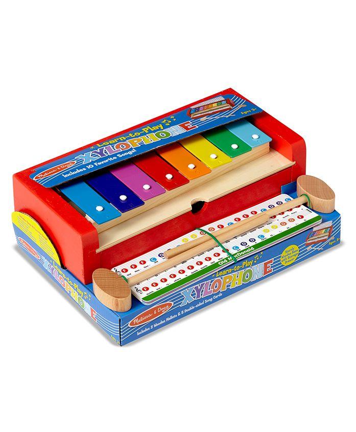 Melissa & Doug Learn-to-Play Xylophone Set - Multicolour