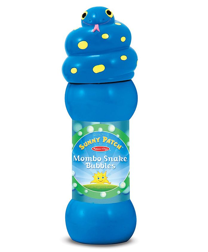 Melissa and Doug Mombo Snake Bubble Bottle Blue - 237 ml