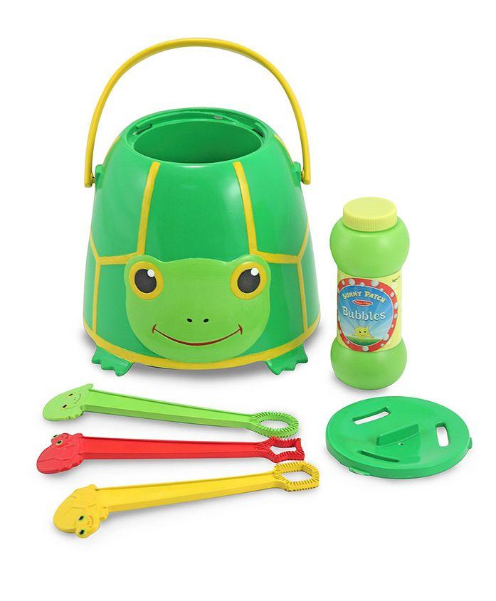 Melissa & Doug Tootle Turtle Bubble Bucket - Green