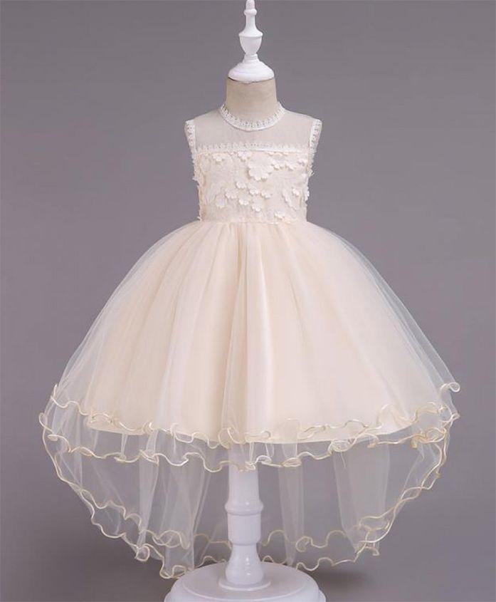 Pre Order - Wonderland High Low Hem Lace Dress - Cream