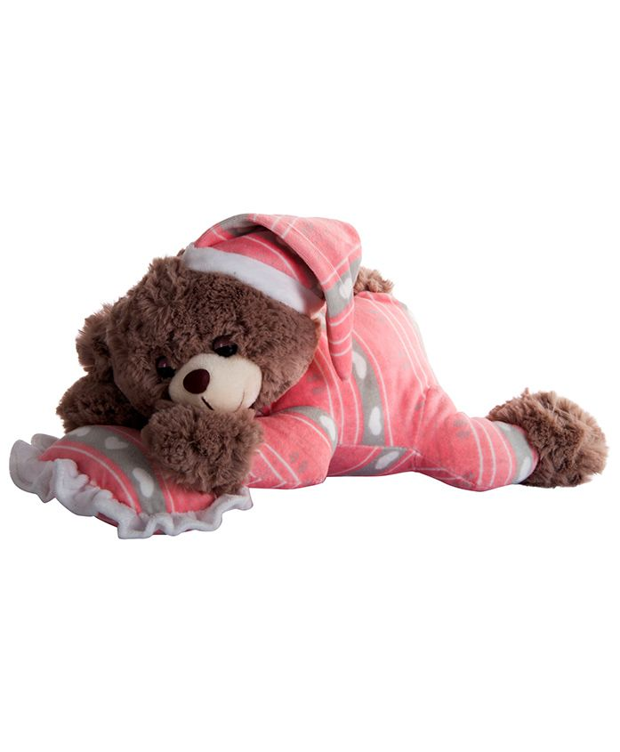Dhoom Soft Toys Dreaming Teddy Bear Pink - Length 30 cm