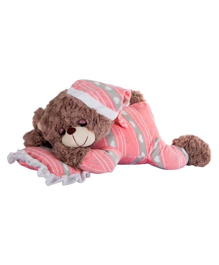 Dhoom Soft Toys Dreaming Teddy Bear Pink - Length 38 cm