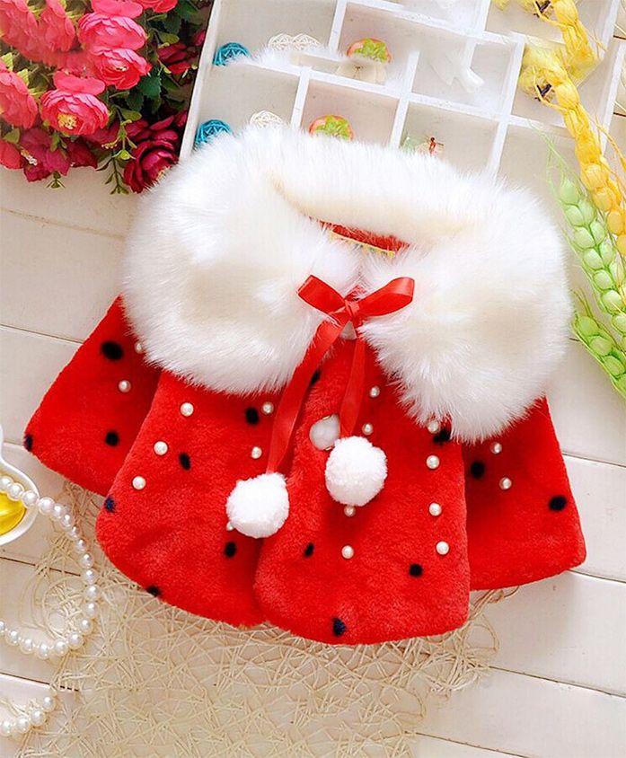 Pre Order - Awabox All Over Fur Coat - Red