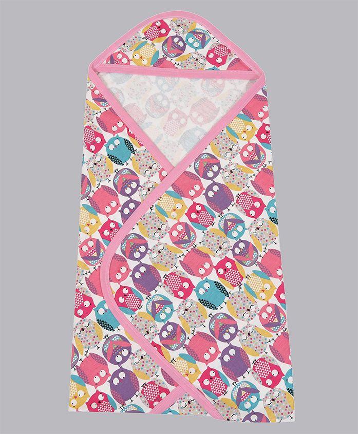 Grandma's Hooded Towel Bird Print - Multicolour
