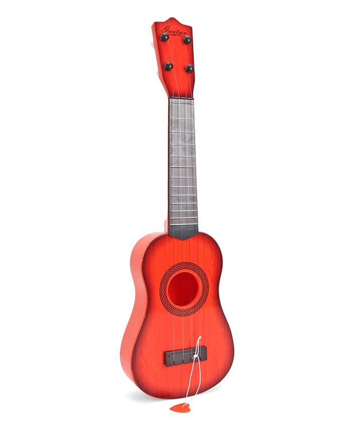 Musical Acoustic Guitar - Brick Red