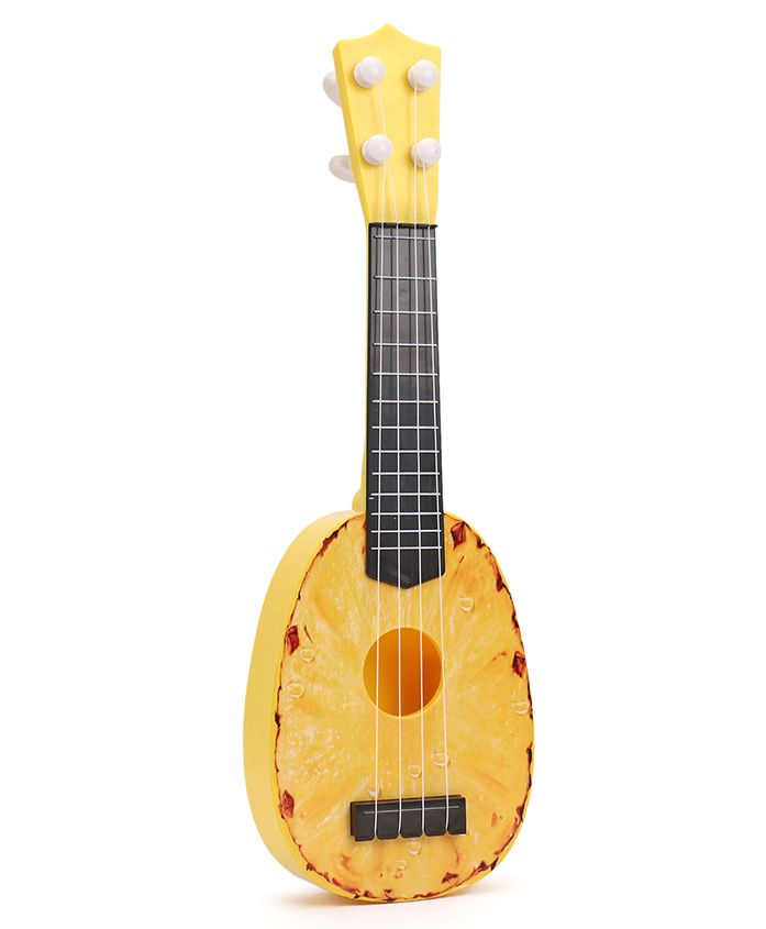Musical Pineapple Shaped Acoustic Guitar - Yellow