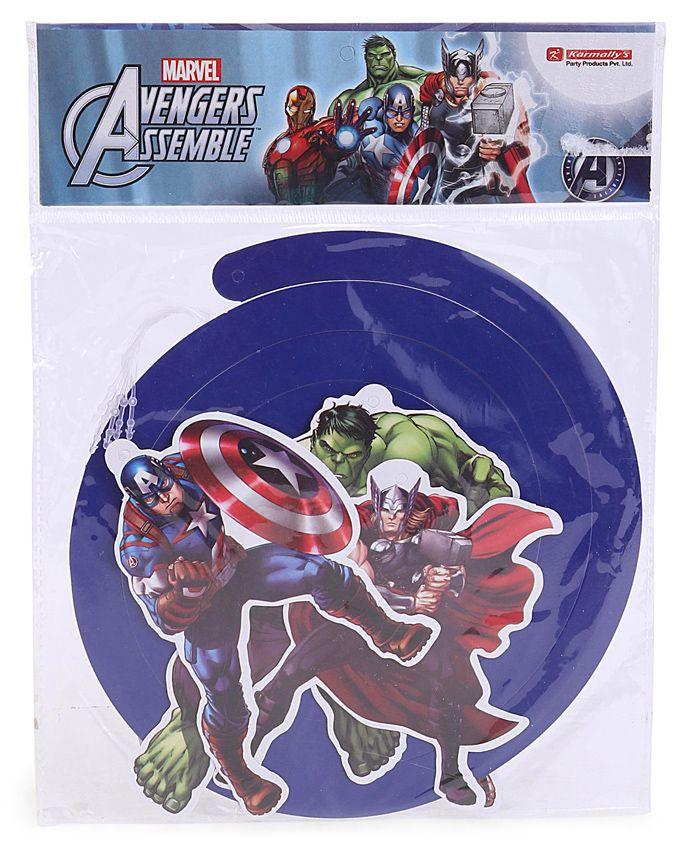 Marvel Avengers Multi Hero Dangling Swirls Multicolour - 5 Pieces