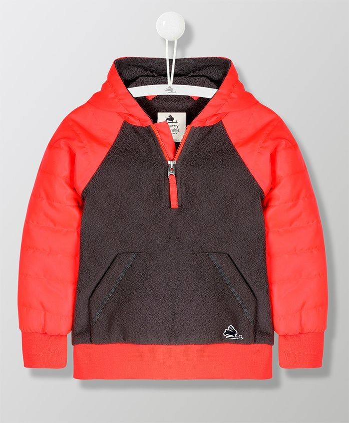Cherry Crumble California Long Sleeves Front Pocket Jacket - Red