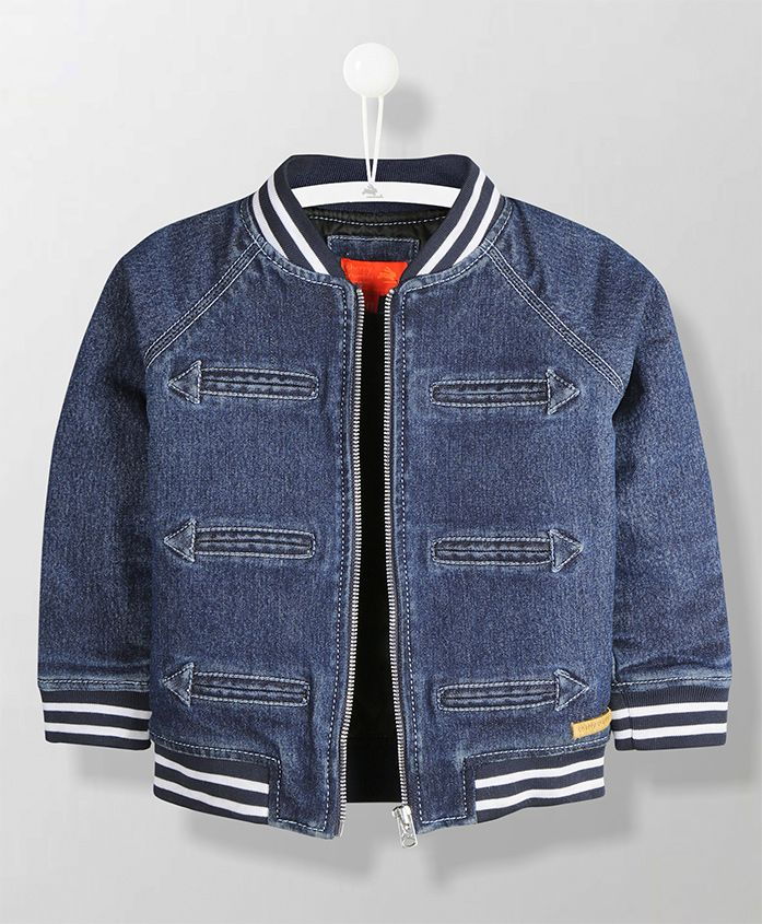 Cherry Crumble California Solid Jacket - Blue