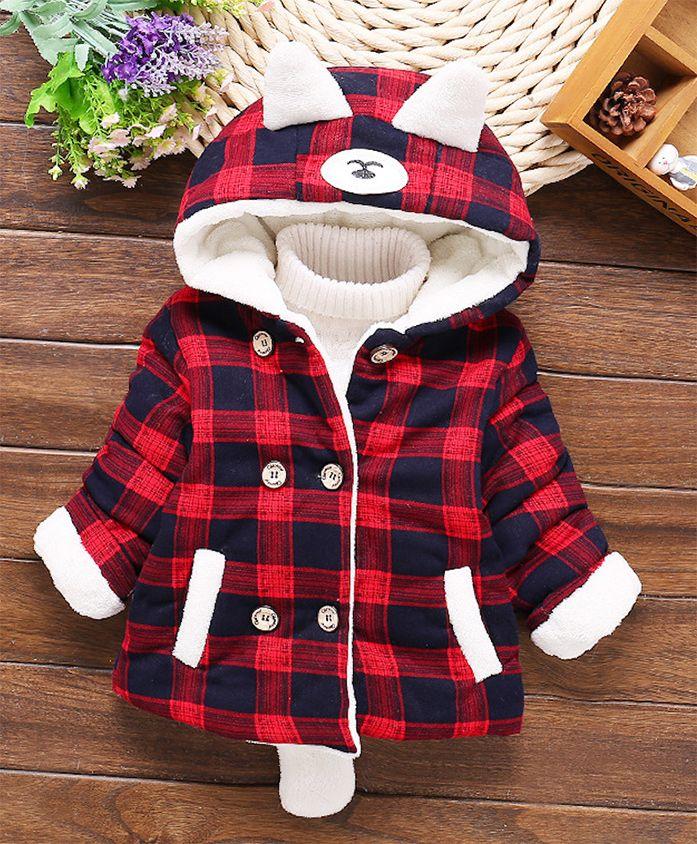 Pre Order - Awabox Checks Hoodie Jacket - Red
