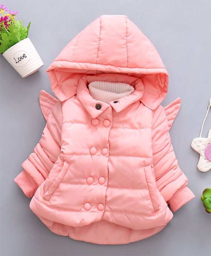 Pre Order - Awabox Hoodie Jacket With Back Wings - Pink