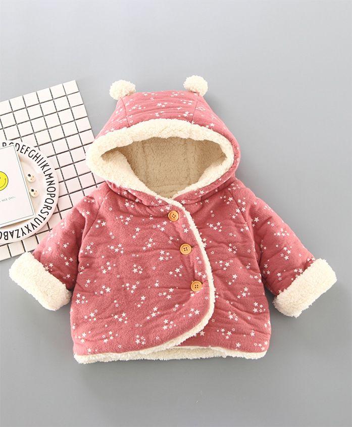 Pre Order - Awabox Star Printed Hoodie Jacket - Pink