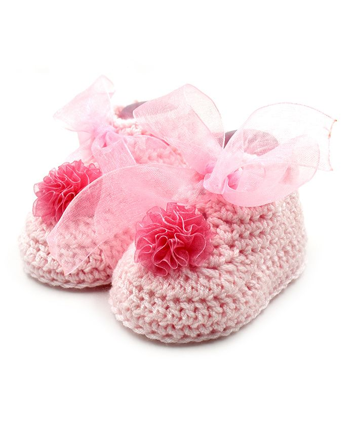Magic Needles Flower & Lace Design Boots - Pink