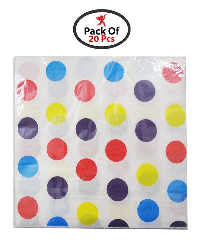 Party Propz Paper Napkin Set Multicolour - 20 Pieces