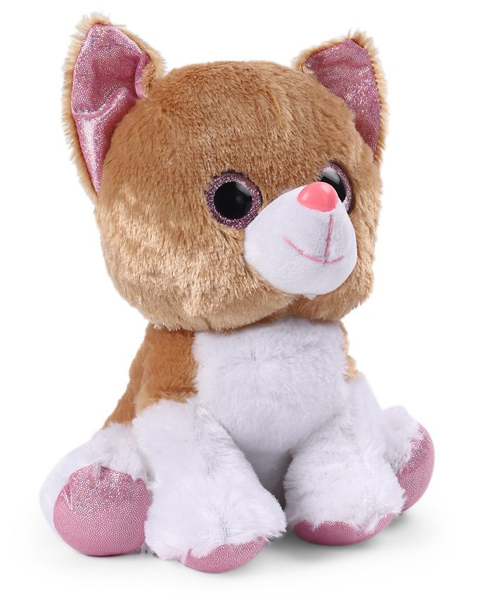 My Baby Excels Kitty Plush Soft Toy Brown & White - Height 22 cm