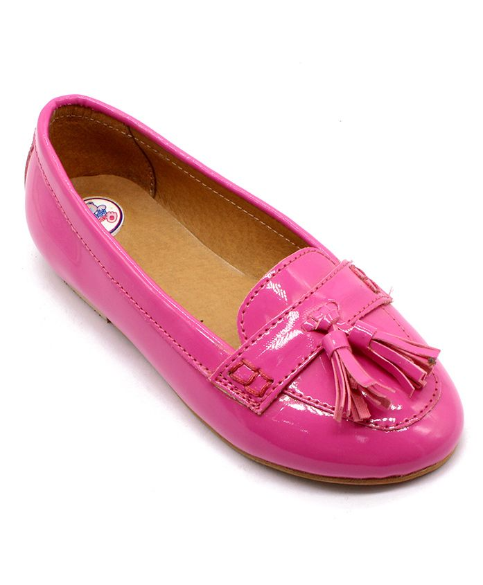 Teddy Toes Loafers With Tassel - Pink