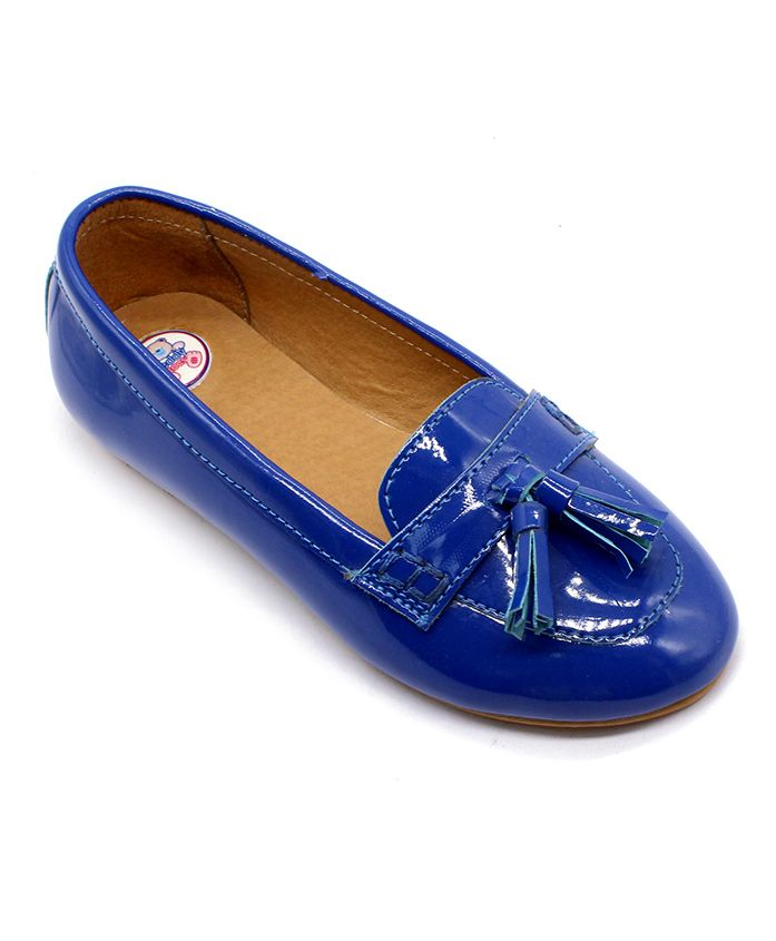 Teddy Toes Loafers With Tassel - Blue