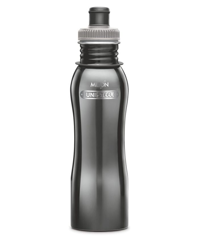 Milton Easy Grip Stainless Steel Fridge Water Bottle Black - 750 ml