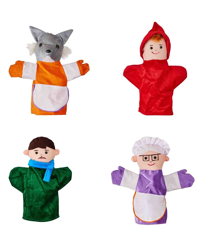 Eduedge Little Red Riding Hood Finger Puppets Pack of 4 - Multicolour