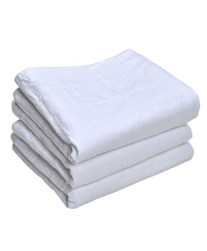 MK Handicrafts Cotton Quilts Pack of 3 - White