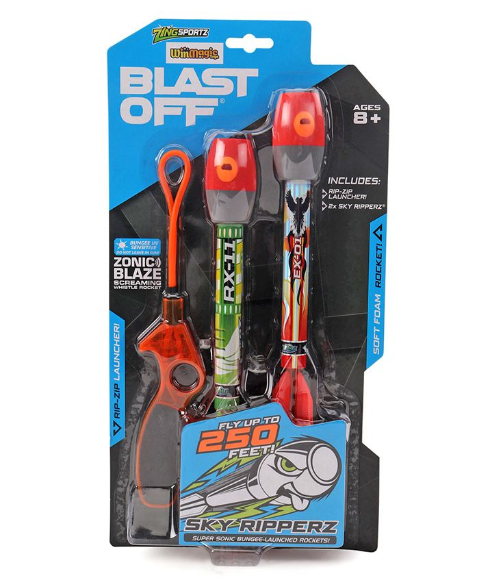 Zing Air Storm Sky Ripperz Blast Off Twin Red - Pack of 2