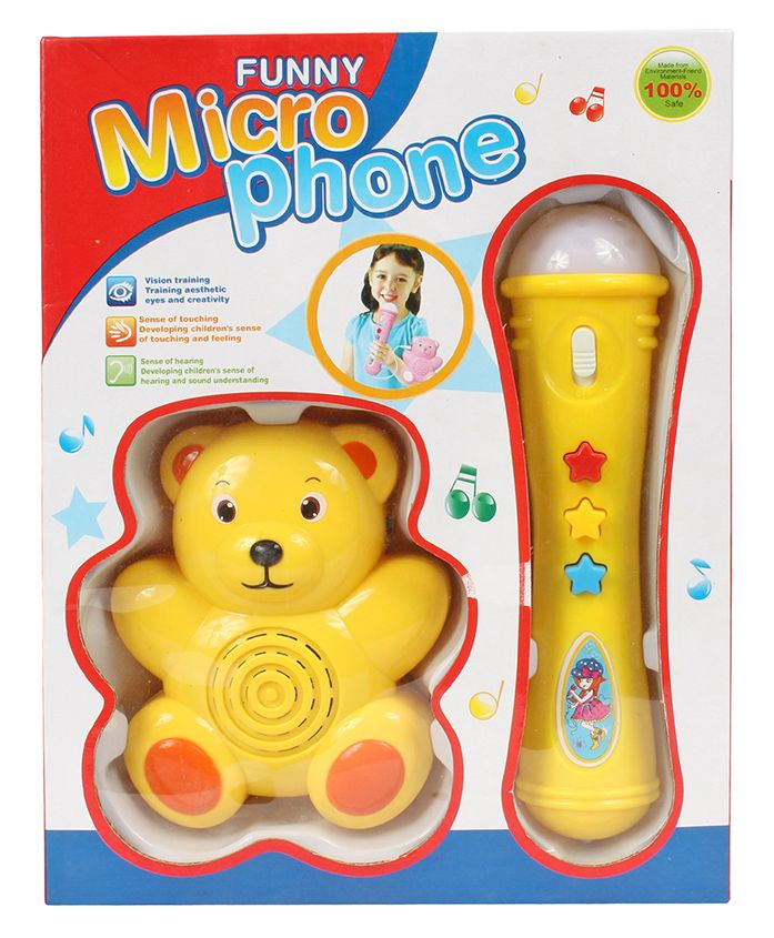 Planet of Toys Musical Microphone With Speaker - Yellow