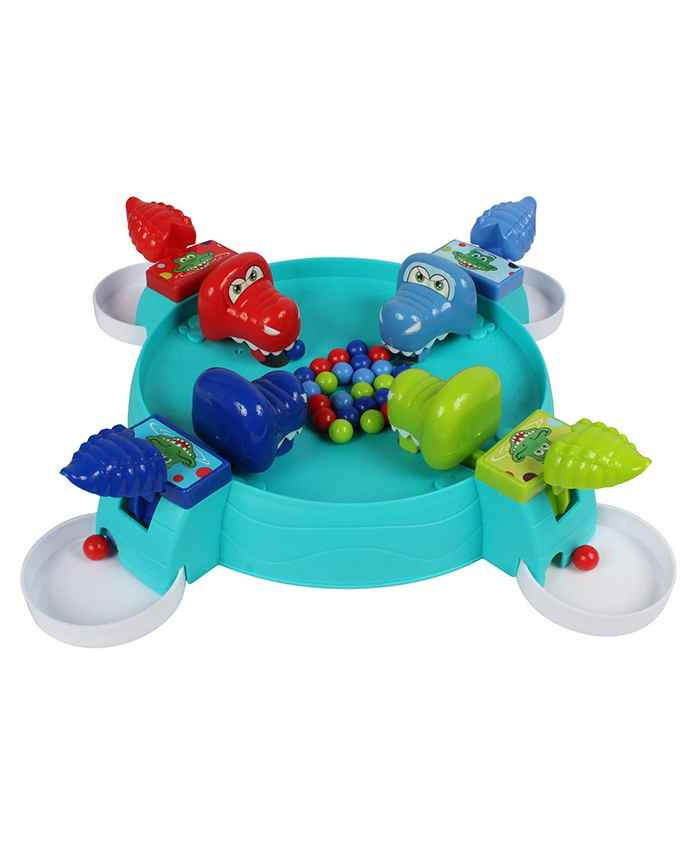 Planet of Toys Funny Crocodile Ball Collecting Game - Multicolour