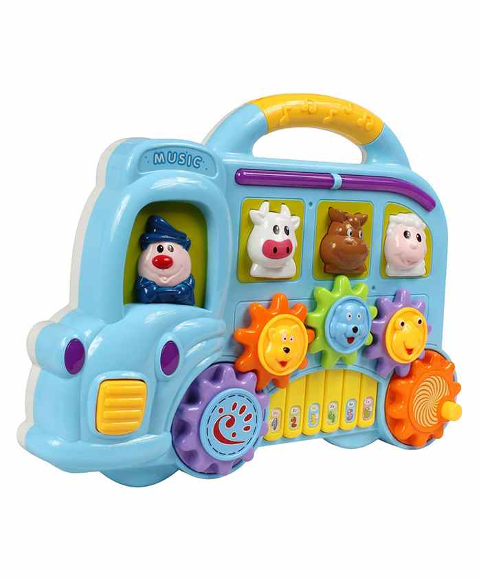 Planet of Toys Car Shaped Piano Musical Toy - Blue
