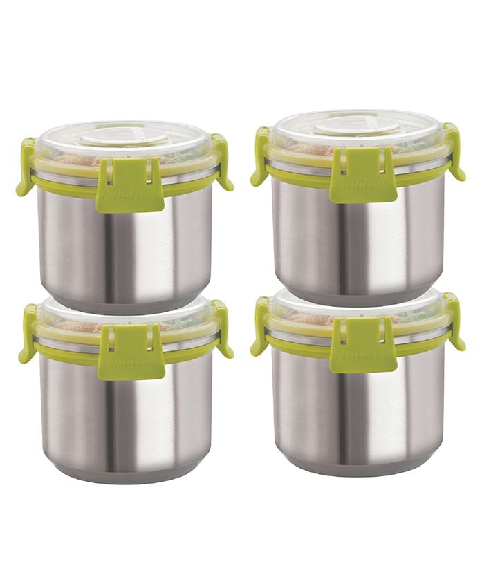 Magnus Airtight Food Storage Containers Set Of 4 Green - 500 Ml Each