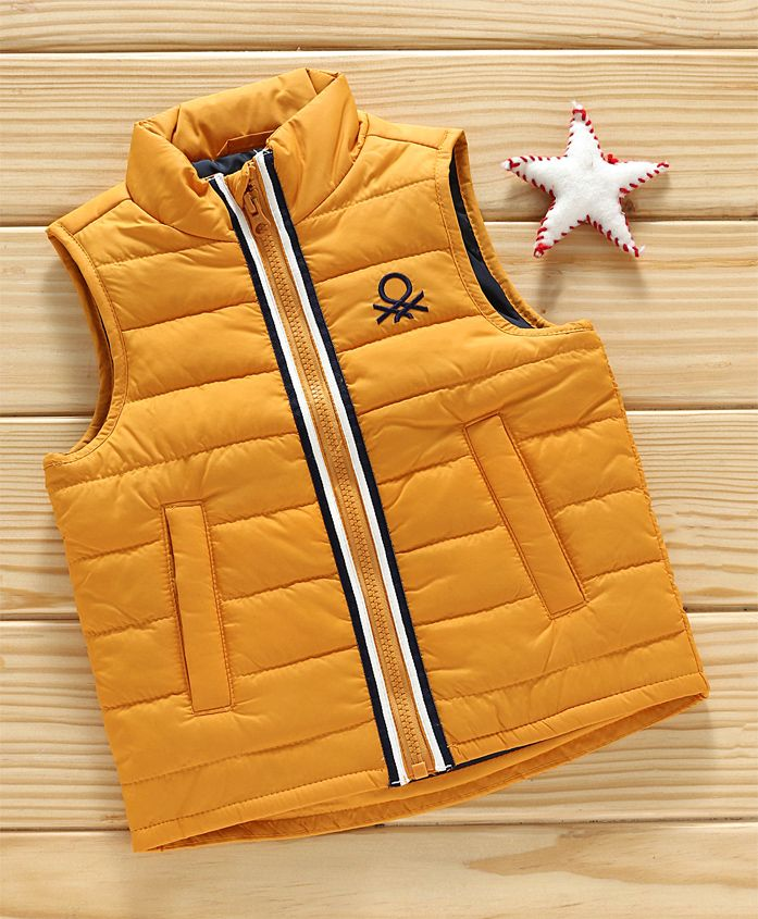 UCB Sleeveless Quilted Jacket - Yellow