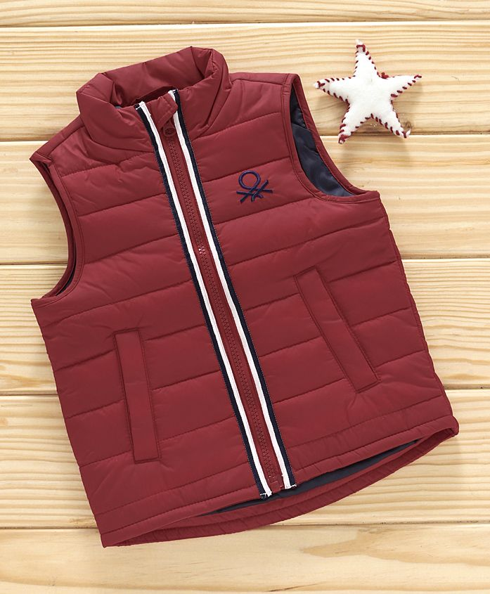 UCB Sleeveless Quilted Jacket - Maroon
